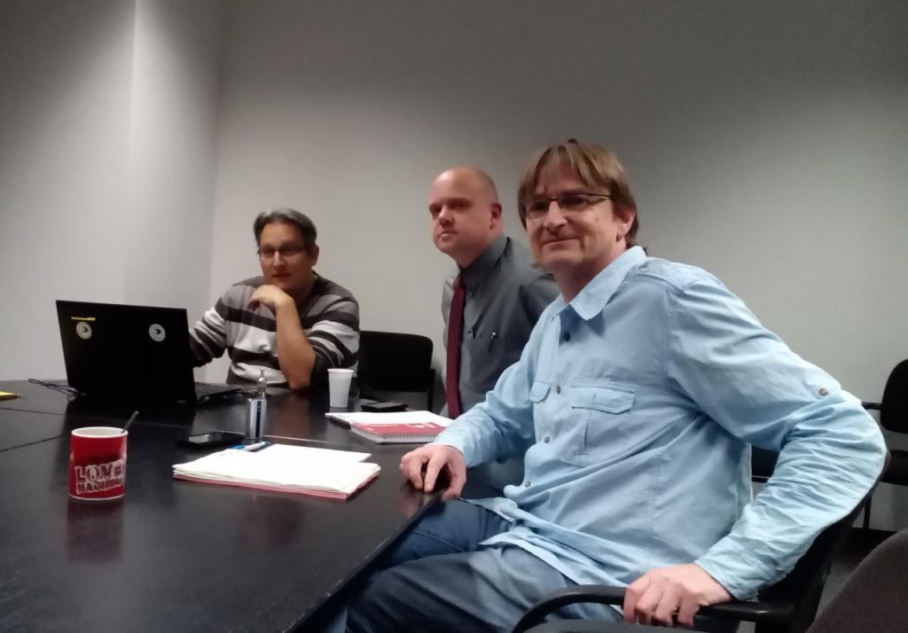 Thorsten Kiszkenow (Piraten), Christian Specht (Mitarbeiter), Frank Schmidt (BfHo)